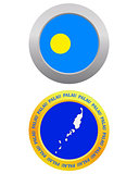 button as a symbol PALAU