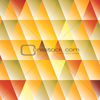 Abstract triangle autumn-colored background