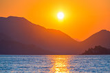 magnificent beautiful landscape, the rising morning sun