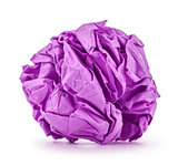 purple paper folded balloon on a white background