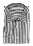 folded shirt with black stripes on a white background