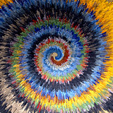 Spiral movement. Multicolor textured background.
