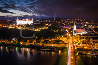 Bratislava at Night, Slovakia