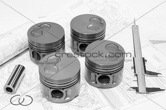 Car engine pistons