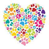 Heart paw print