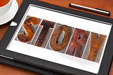 story word on tablet