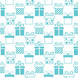 Seamless background of presents boxes