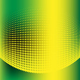 Abstract halftone green and yellow background