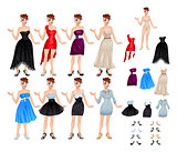 Female avatar with dresses and shoes