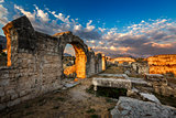 Ruins of Ancient Roman Salona (Solin) near Split, Dalamatia, Cro