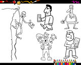 people and technology coloring page