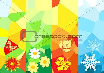 Four season banners