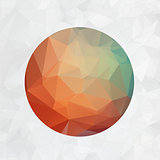 Abstract 2d origami circle vector background