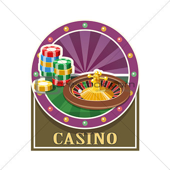 Casino. Roulette and counter