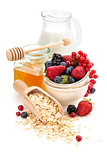 Oatmeal ingredients.