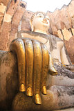 Big Buddha in Wat Si Chum at Sukhothai Historical park, Thailand