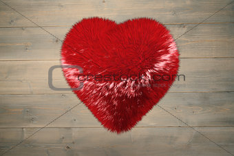 A large soft red heart