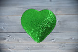 Large green furry heart