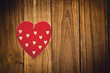 Composite image of cute heart decoration