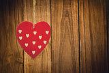 Composite image of cute heart decoration