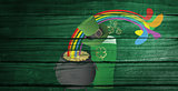 Composite image of patricks day graphics