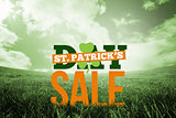 Composite image of patricks day sale ad