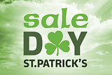 Composite image of st patricks day sale ad