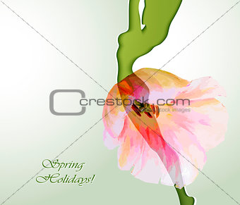 Beautiful young woman silhouette