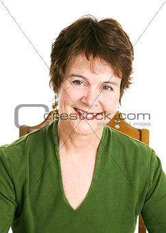 Portrait of Pretty Mature Woman