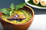 Green Curry with Eggplant