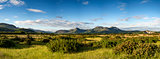 Beautiful Summer panoramic view from Porthmadog Cob towards Snow