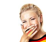 Portrait of a smiling football fan