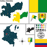 Map of Caldas, Colombia