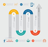 vector timeline infographic template