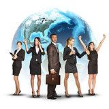 businessmen conquer the world