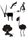 Original art animal silhouettes