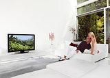 Beautiful Couple Watching TV