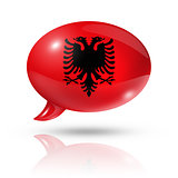 Albanian flag speech bubble