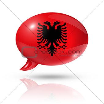 Albanian flag speech bubble