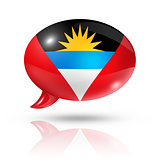Antigua and Barbuda flag speech bubble