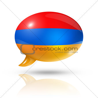 Armenian flag speech bubble