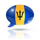 Barbados flag speech bubble