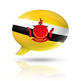 Bruneian flag speech bubble