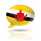 Bruneian flag speech bubble