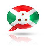 Burundian flag speech bubble