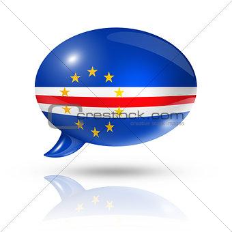 Cape Verdean flag speech bubble