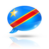 Democratic Republic of the Congo flag speech bubble