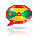 Grenada flag speech bubble