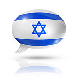 Israeli flag speech bubble