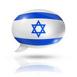 Israeli flag speech bubble